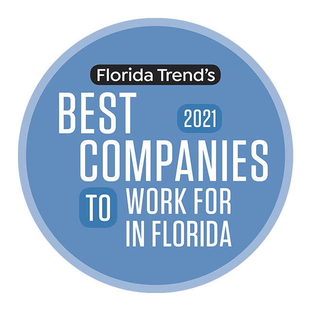 Florida Trend - Best Companies to Work for in Florida 2020 Winner seal